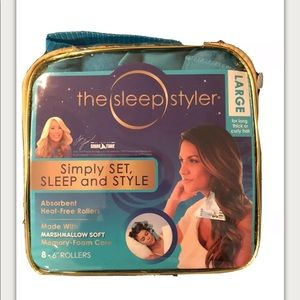 """The Sleep Styler Heat Curlers Includes 8 Large 6"""""""